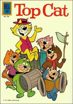 Top Cat - Top Cat is a Hanna-Barbera prime time animated television series which ran from November 1961 to April 1962 for a run of 30 episodes on the ABC network. Reruns are played on Cartoon Network's classic animation network Boomerang. Vintage Cartoons, Vintage Comic Books, Vintage Comics, Old Comic Books, Poster Vintage, Cartoon Cartoon, Cartoon Photo, Classic Cartoon Characters, Classic Cartoons