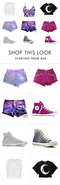 """Shorts"" by kerralovely on Polyvore featuring beauty, Converse and Ally Fashion"