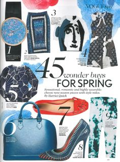 Nicholas Kirkwood, in Vogue's '45 Wonder Buys for Spring' edited by Harriet Quick  - April issue.