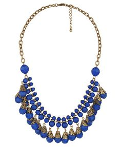 I love the deep blue on this antique-looking statement piece. $6.80