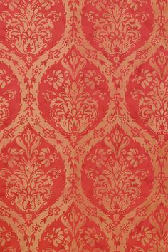 CORDOBA DAMASK, Red, T8661, Collection Shangri-La from Thibaut