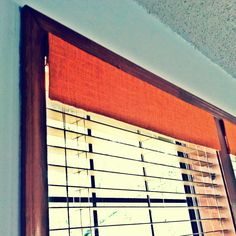 #DIY Take boring old blind panels on windows & add fabric to them to make em POP!