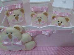 Kit Higiene Bebê Ursa Rosa Bebê