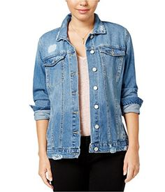acbe1a18ed9 Jessica Simpson Womens Peri Ripped Jean Jacket Jackets Online