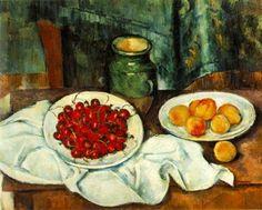 Assiette de cerises - Paul Cezanne - Tableaux et dessins
