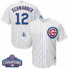 Men s Majestic Kris Bryant White Chicago Cubs Home 2016 World Series  Champions Team Logo Patch Player Jersey 11a4efc50