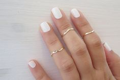 Goldfilled Stacking Ring Gold ring Set of 3 by HLcollection, $24.00
