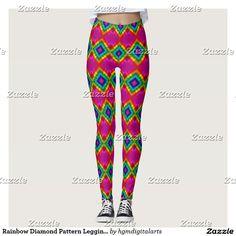 Rainbow Diamond Pattern Leggings