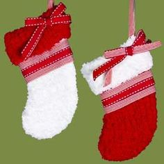 Red and White Stocking Ornament, Assorted (Case of 12)*