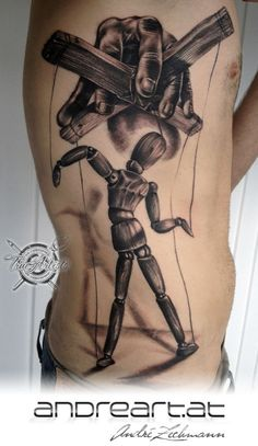 BLACK AND GREY PUPPET TATTOO - Google Search