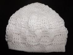 Crochet Baby Hat For a New Born - YouTube- would be so adorable with a bow or a crochet flower!  My next project!