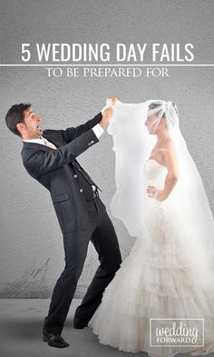 5 Wedding Day Fails To Be Prepared For ❤ No matter how carefully you've planned, there are some #wedding day fails you should be prepared for. See more: http://www.weddingforward.com/wedding-day-fails/ #weddingplanning #brides