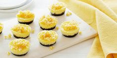 These adorable cheesecakes are easy to make in mini muffin tins and produce the perfect bite-sized snack or dessert.