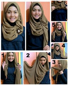 Hijab Tutorial Pictures 2013 touch of brown