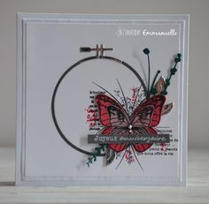 Birthday Cards, Happy Birthday, Butterfly Cards, Invitation, Beautiful Butterflies, Diy Cards, Cardmaking, Embroidery, Handmade