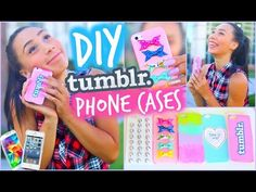 DIY 5 Easy Phone Cases (Studded, Ombre & More)   Tumblr Inspired - YouTube