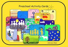 Activity Cards Preschool Fun from Preschool Rays on TeachersNotebook.com -  (32 pages)  - This file contains 30 different activities for preschoolers: tracing, matching, patterning, logical thinking, etc. The activity cards can be laminated and used as wipe-clean cards. A small group of kids can do the same activity in the same time and at lit