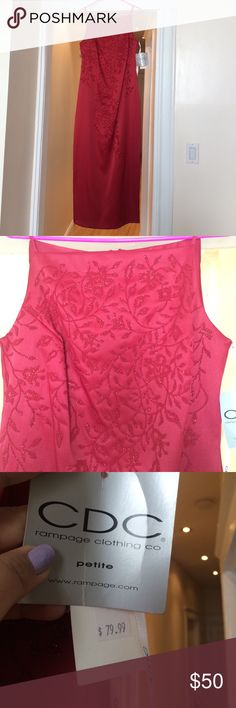 rampage clothing co. sz 8 petite red evening wear NWT received as a gift and never worn. Embroidery perfectly in tact. Wear it for date nights, gala, dinner parties, and so much more! Rampage Dresses