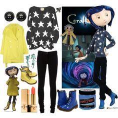 """Coraline"" by yeah-boy-and-doll-face on Polyvore"