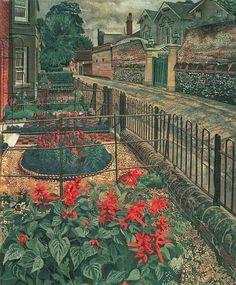 Gardens in the Pound, Cookham, Berkshire; Stanley Spencer