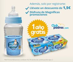 Gana un año del producto Mi Primer Danone totalmente gratis para tu bebé.  Promoción válida para España hasta 31/12/2013.  Más información para participar aquí: http://www.baratuni.es/2013/11/sorteos-gratis-gana-un-ano-de-mi-primer-danone.html  #sorteos #sorteosgratis #sorteosonline #danone #miprimerdanone #baratuni
