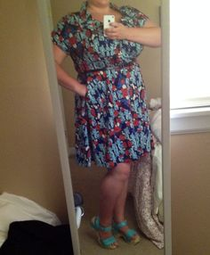 Feeling a little vintage flair with my dress from @gwynniebee today! (With @fluevog shoes, of course.)