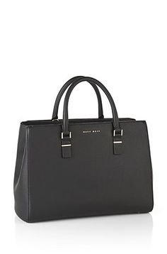 Bolso shopper en piel: 'Luxury Staple T. M-C', Negro