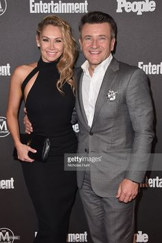 Kym Johnson (L) and Robert Herjavec attend he 2016 Entertainment Weekly & People New York Upfronts VIP Party at Cedar Lake on May 16, 2016 in New York City.