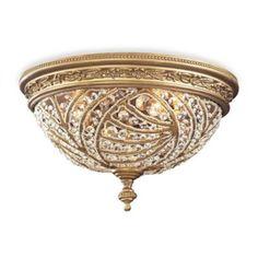 ELK Lighting Trump Home™ Renaissance 2-Light Flush Mount in Dark Bronze and Crystal Accents - BedBathandBeyond.com
