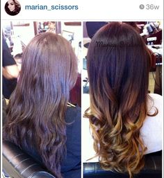 Ombré haircolor #hair #beauty