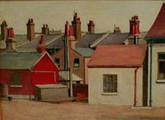 """Good morning John (just! Here's one that I hope you'll like which I haven't shown for a long time. This is ""Houses at Stratford"" by Harold Steggles from Camden London, East London, Camden Town, Bow Art, London Painting, Indie Art, Realistic Paintings, Abstract Art, Houses"