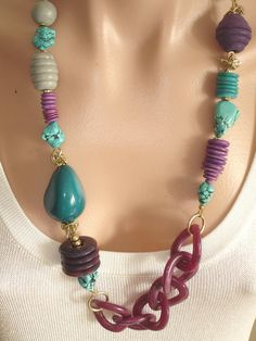 Ashira BakeliteStyle ITALIAN RESIN Chain Rich by AshiraJewelry, $120.00