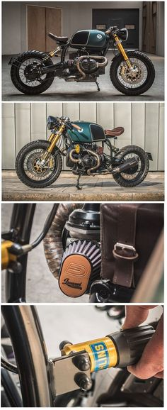 """Ironwood Customs at it again with this sweet BMW called """"The Moon Crawler"""" - BMW Custom Motorcycles - Virago Cafe Racer, Cafe Racer Moto, Honda Scrambler, Cafe Racing, Bmw Motorbikes, Bmw Motorcycles, Custom Motorcycles, R Cafe, Cafe Bike"""