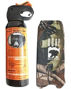 Camping Bear Protection Products - UDAP Bear Spray With Camo Hip Holster >>> Find out more about the great product at the image link.