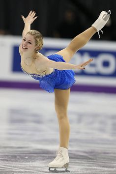 Gracie Gold doing a spiral