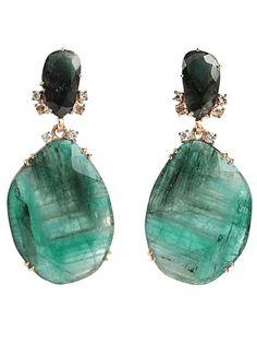 FEDERICA RETTORE - Emerald drop earrings
