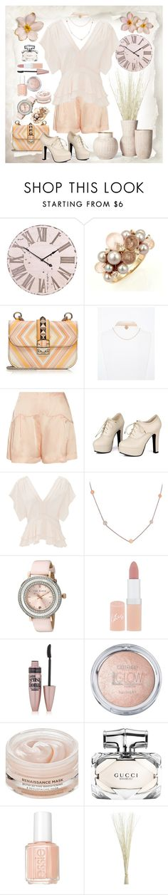 """""""Just Peachy"""" by loves-elephants ❤ liked on Polyvore featuring Mimí, Valentino, Miu Miu, Sidewalk, Rebecca Taylor, Jennifer Meyer Jewelry, Ted Baker, Rimmel, Maybelline and Oskia"""