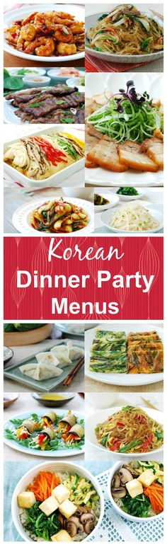 Menus for your Korean dinner parties - small, large and vegan! Hope this helps with your feasting with family and friends.