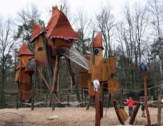 """This playground in Hoenderloo, Netherlands' Landal Miggelenberg park, which would look more at home in the pages of a Dr. Seuss book than it does in the real world, just begs to be celebrated."" Kaboom. I'd want to play there."