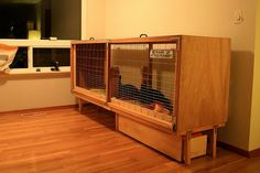 The new hutch The @ Board.Specific Things for Specific People bunny hutch @ Kiki . Woodworking Guide, Custom Woodworking, Woodworking Projects Plans, Teds Woodworking, Bunny Cages, Rabbit Cages, House Rabbit, Rabbit Habitat, Bunny Hutch