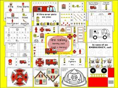 Fire Safety Unit (91 pages) of Math and Literacy!