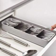$10 · Shop Joseph Joseph DrawerStore Compact Cutlery Organizer and more from Sur La Table! #kitchendecor #kitchen