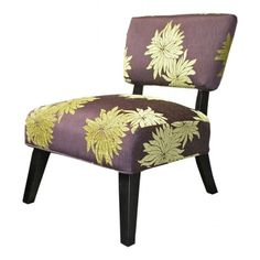 Sleek accent chair in deep amethyst!