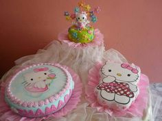 torta infantil Beautiful Cakes, Amazing Cakes, Torta Hello Kitty, Some Recipe, Little Ones, Fondant, Sweet, Creative, Pound Cake