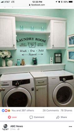 Rustic shabby chic laundry room vintage vinyl decal small laundry laundry room designlaundry room wall decorikea laundry roomsmall laundry roomslaundry room colorslaundry room organizationroom paint colorsgray paint solutioingenieria Choice Image