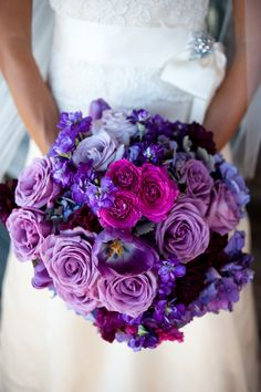 The many shades of purple bouquet