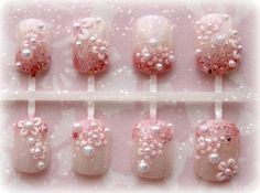Floral Fake Nails Kawaii Spring Blooms by Nevertoomuchglitter, $14.00