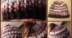 I made this Messy Bun/Ponytail hat last night. It worked up quickly. I really like the texture of this hat and the chunkiness is sure...