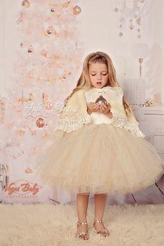 Ivory Junior Bridesmaid Dresses for Girls
