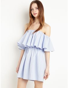 Baby Gingham Off The Shoulder Dress By New Revival